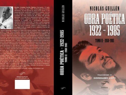 Nicolás Guillén – Obra Completa – Tutto Nicolás Guillén in due volumi, dal 1922 al 1985. Per la prima volta in Italia.