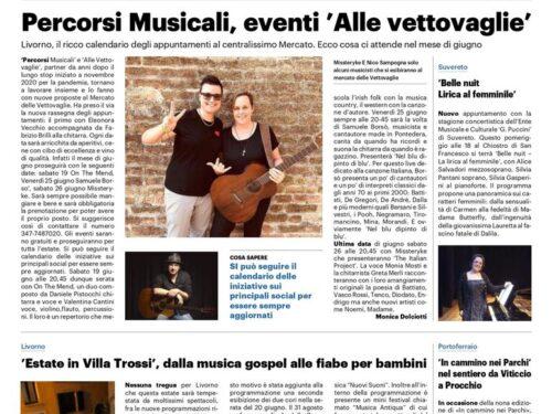 Fabio Strinati su Il Telegrafo Livorno – La Nazione. Grazie Maila Papi