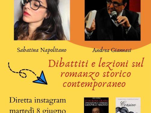 Sabatina Napolitano è con Andrea Giannasi martedì 8 giugno 19,15 diretta instagram